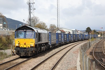 66422 4D47 Inverness - Mossend passes Aviemore 6th May 2021