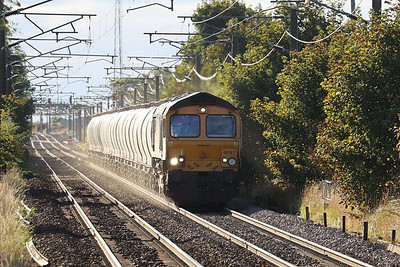 66741 kicks up the dust with 6E45 Fort William - North Blyth at Kirknewton 6th October 2021