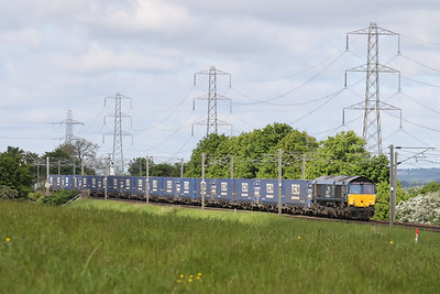 66422 on the 0915 Mossend - Tees Sunday 6th June 2021
