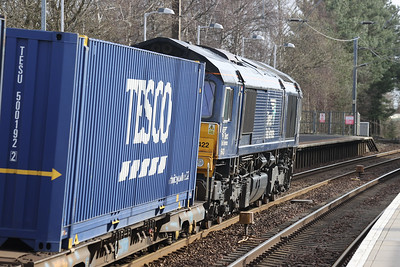 66422 on 4E65 Mossend - Tees Sunday 28th March 2021 passing Kirknewton