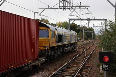 66712 passes West Calder with 4S69 Doncaster - Elderslie 12th October 2021