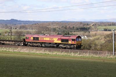 66106 6E30 Dalzell - Tees at Kirknewton 9th April 2021