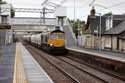 66741 passes West Calder with 6S45 North Blyth - Fort William Alcans 14th August 2021