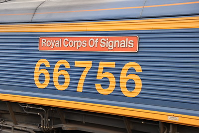 66756 Royal Corps of Signals passes Kirknewton with 4S69 Doncaster iPort to Elderslie 28th September 2021