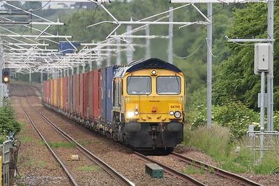 66740 approaching Livingston South with 4S69 Doncaster iPort - Elderslie 6th July 2021