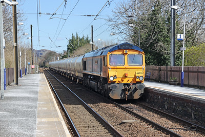 66733 6S45 North Blyth - Fort William Alcans 10th April 2021 at Kingsknowe