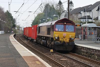 66039 4S99 Tees - Grangemouth at Kirknewton 31st March 2021