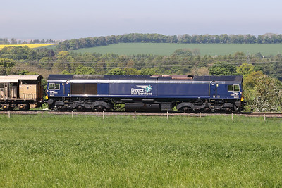 66432 is 6K25 0840 Carlisle - Millerhill via the G&SW rail drop train passing Kirknewton 31st May 2021.  Bit of a faux pas with catenary posts in shot on this one. Grrr