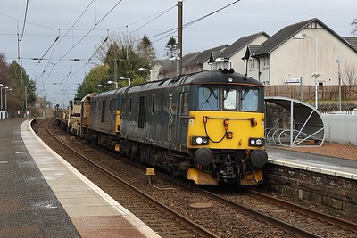 73971 leads 73969 on 6K30 1606 Millerhill - Carlisle at Kirknewton 27th March 2021