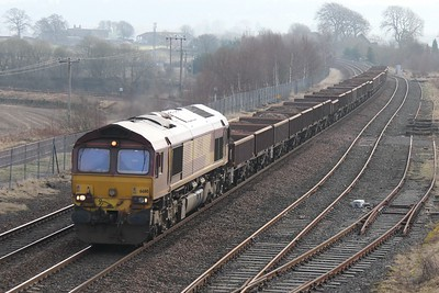 66110 westbound at Bo'ness Junction 20th February 2011