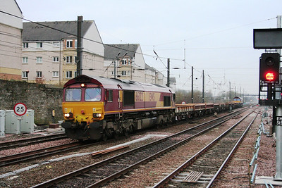 66122 approaches Haymarket T&T with a classmate