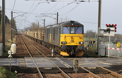 73971 leads 73969 on 6K30 0855 Carstairs - Millerhill via Benhar at Kirknewton 28th March 2021