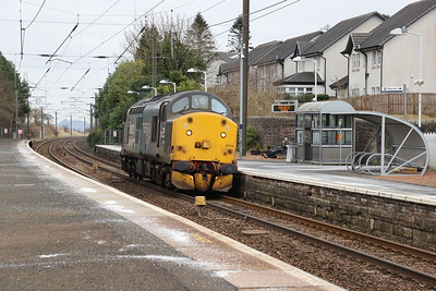 37716 on a return route learner from Millerhill to Motherwell passes Kirknewton 5th March 2021