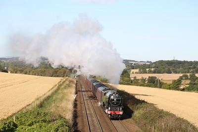 60163 1Z60 The Aberdonian climbs to Hillend
