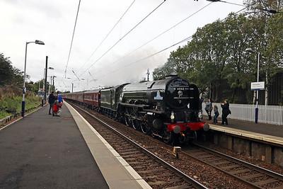 60163 Tornado passes Kirknewton with 1Z62 1211 Carlisle - Edinburgh 12th September 2020