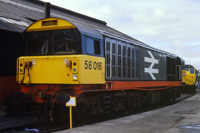 58016 first of class to visit Scotland Haymarket Open Day 24 August 1985