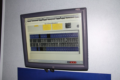 Touch screen allowing driver to cure train faults.