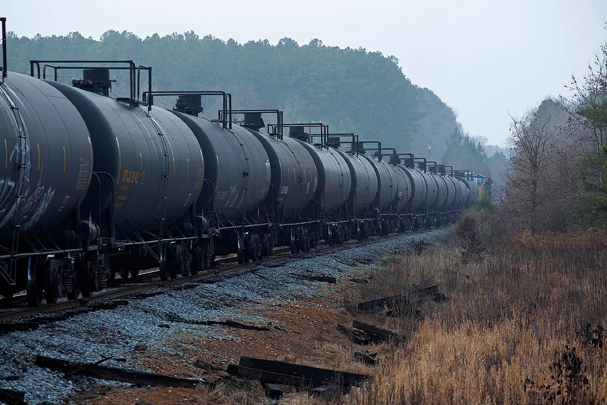 Ethanol train on the High Point,Thomasville, & Denton RR at Healing Springs,NC