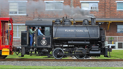 Flagg Coal Company #75 at the North Carolina Transportation Museum in Spencer,NC