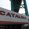 Here is the Catalina terminal at Berth 95 in San Pedro, with the Vincent Thomas Bridge overhead.