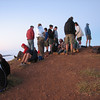 This is the group of people who were waiting around on the summit for the sun to rise. I had to wait over an hour.