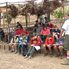 Holding class in the garden, along with the Soil and Water Conservation class (Peter).
