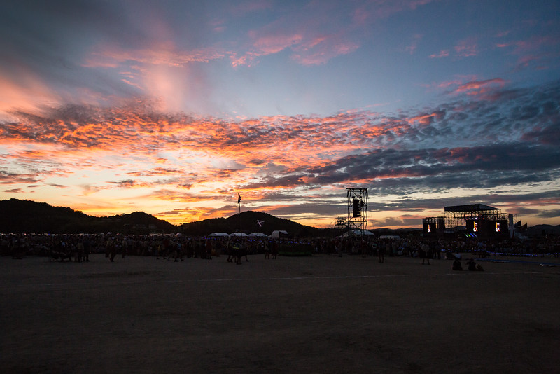 Sunset at closing ceremony.