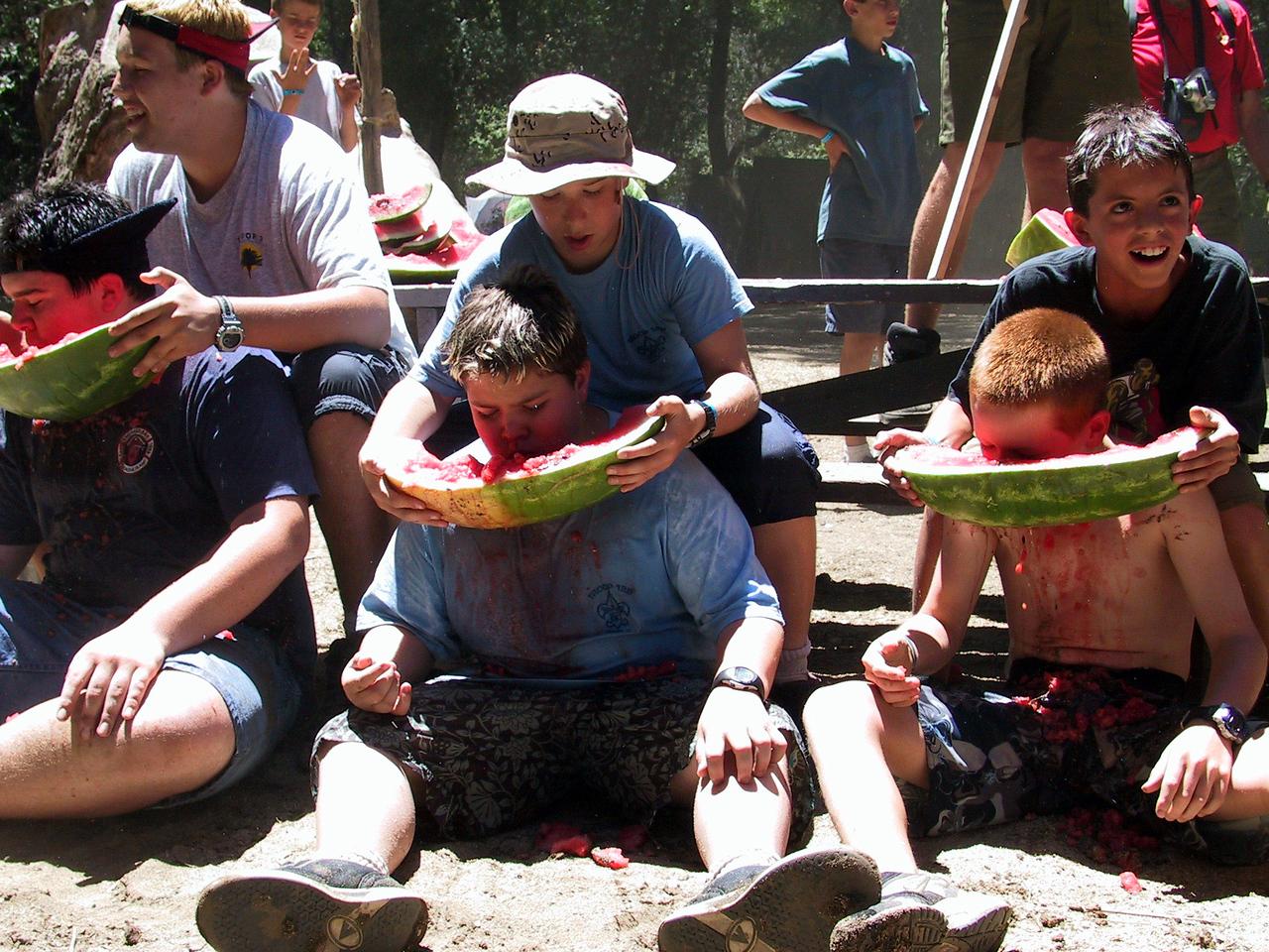 Food was always plentiful at camp.