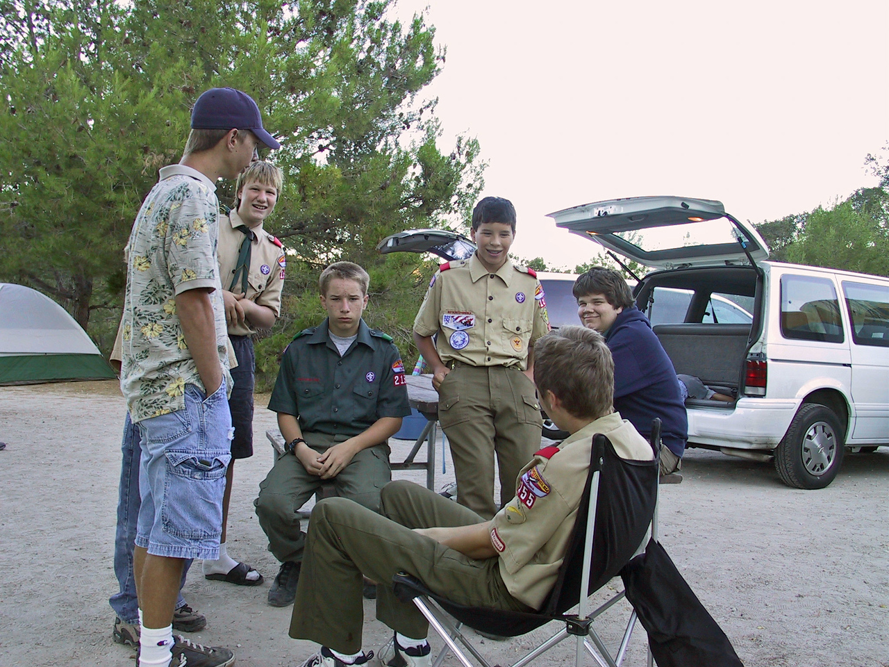 2003 - Planning Campout - Lake Unknown - Troop 155