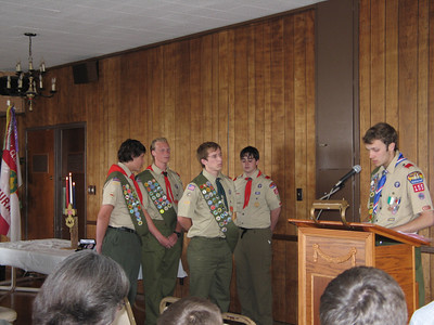 2007 - Josh Glenn's Eagle Court of Honor - Troop 155