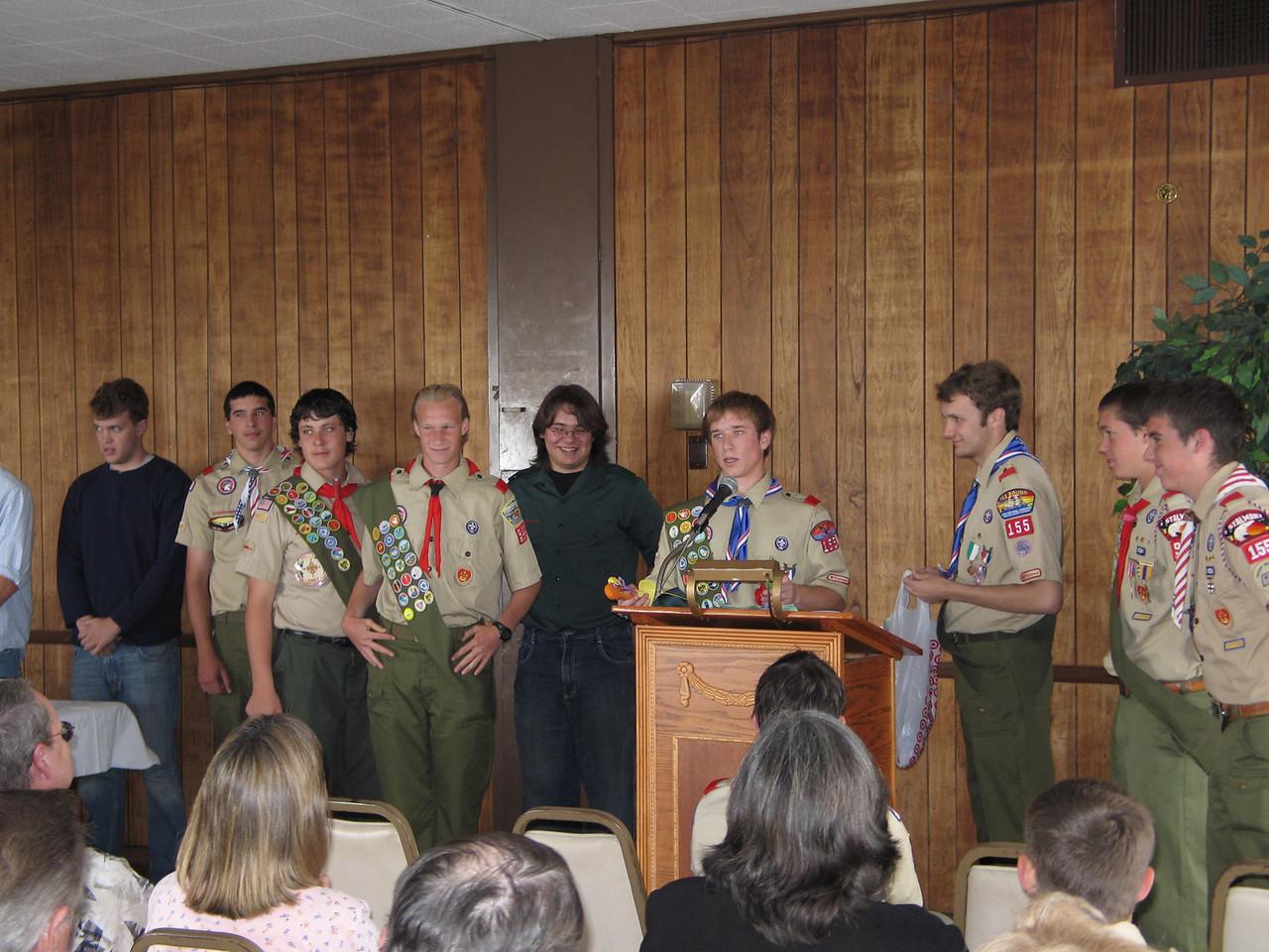 2007 - Josh Glenn's Eagle Court of Honor - Troop 155