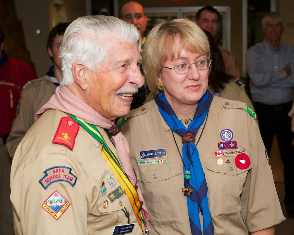 Al Griffin recognized for 70 years of Scouting