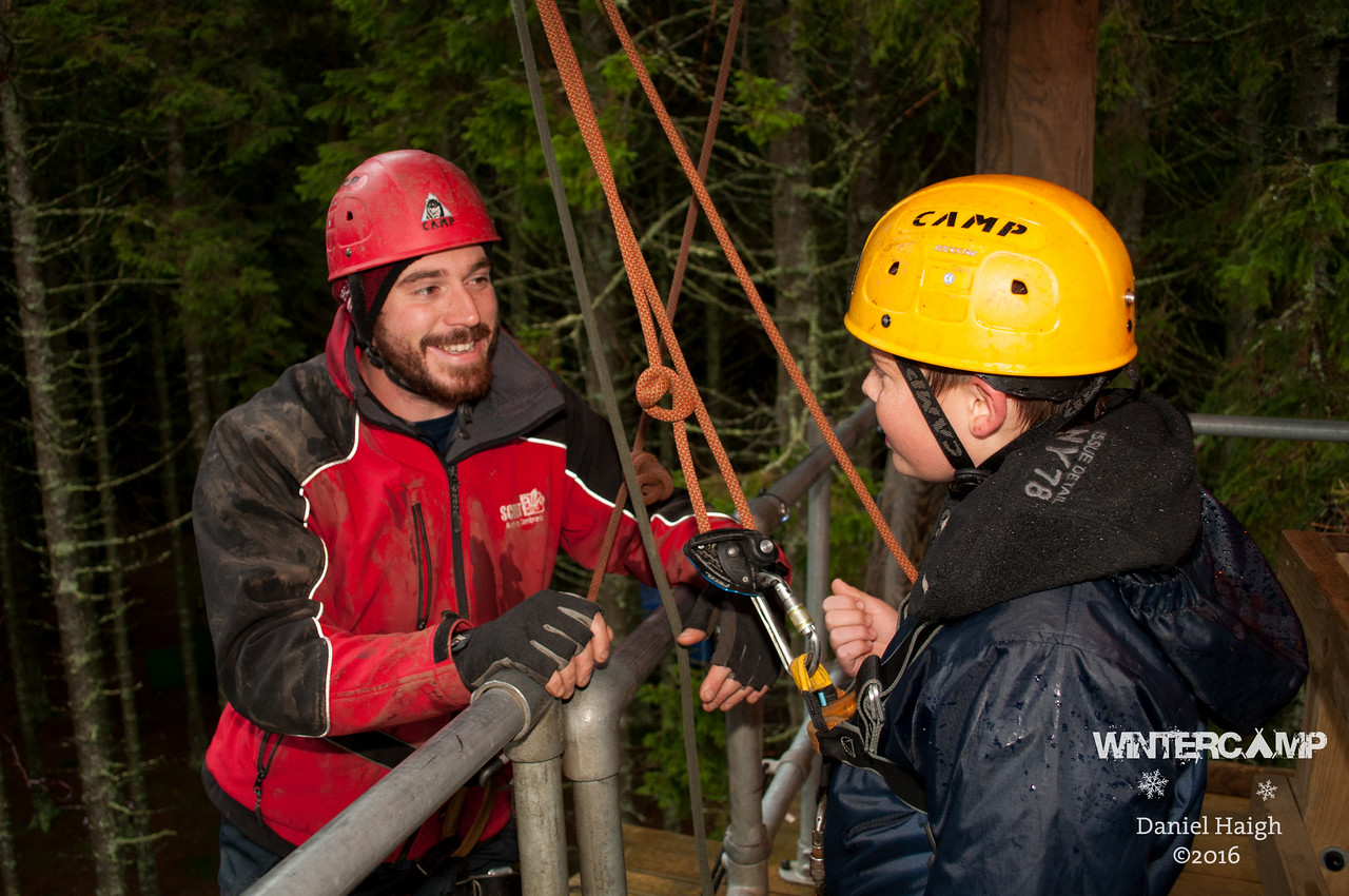 Hawkhirst Winter Camp - Zip Wire