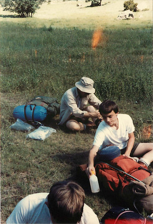 Don Belanger & Matt Belanger (front) at Old Camp.  721B