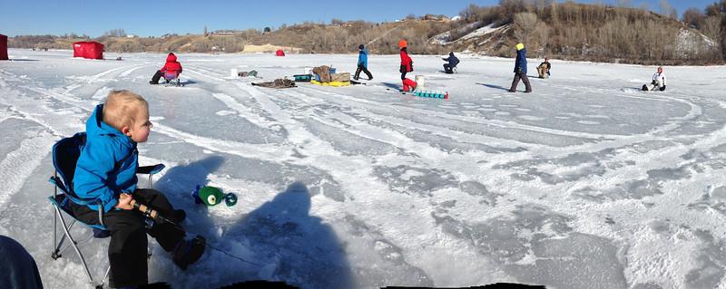 Ice Fishing at Hyrum Dam