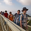 Crossing a bridge across a canyon. The scouts did a LOT better than they looked!