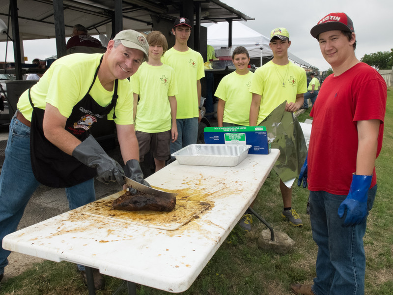 Dripping Springs Troop 101 Brisket Fundraiser, 2014
