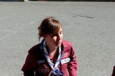 Elsa Bouneau sera élue présidente du Scoutisme Français quelques instants plus tard.