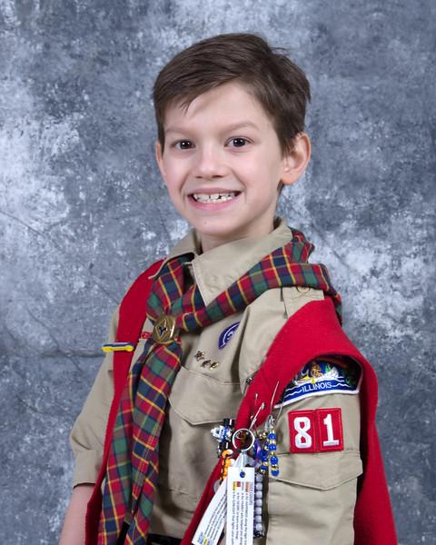 LJ goes to Boy Scouts.