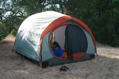 Nils goes for deluxe backpacking accommodations