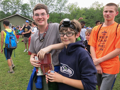 Preparing to hike to Camp Post