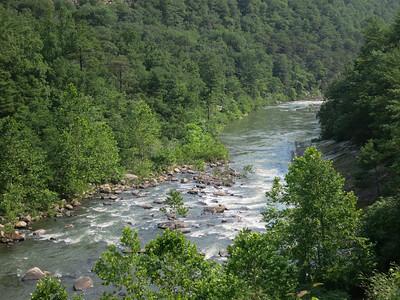 The Maury River. Goshen Pass. Rockbridge County, VA.