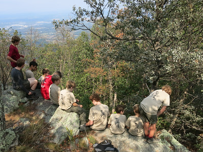 Troop 131 at the summit of Signal Knob in the GW National Forest.