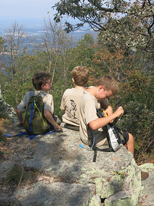 Troll Patrol members at the summit of Signal Knob in the GW National Forest.