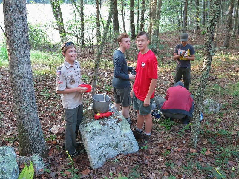 Members of the Hawks, Wolves, and Phoenix patrols. Seasoned backcountry campers.
