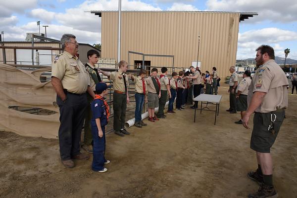 BSA: Troop 346 Flag Retirement Ceremony