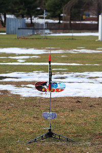 This is one interesting setup. A rocket with a glider attached.