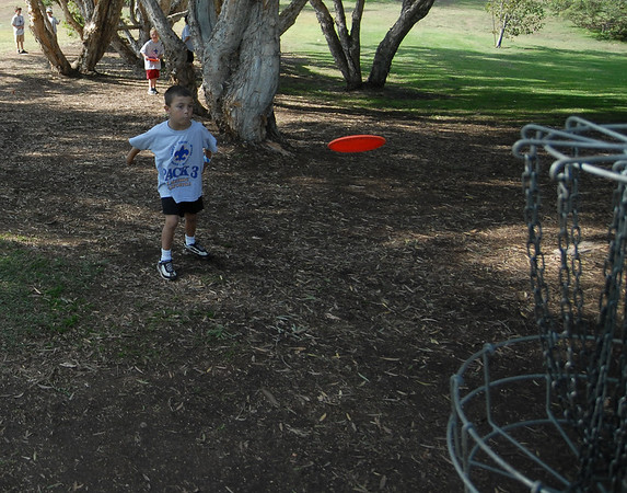 Cub Scout Pack 3 - Frisbee Golf at Morley Field,  San Diego, Ca