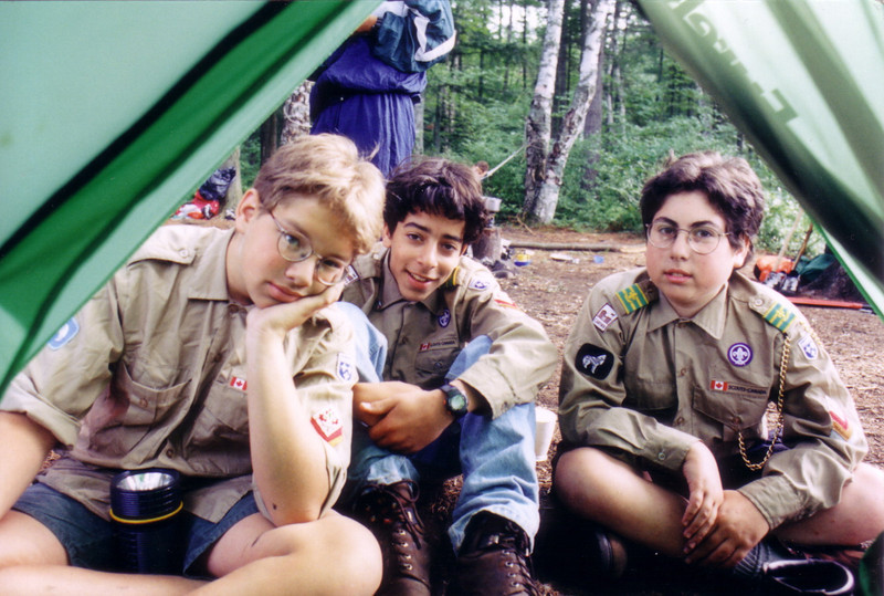 1996 - Week long canoe camp, Saranac Lakes area