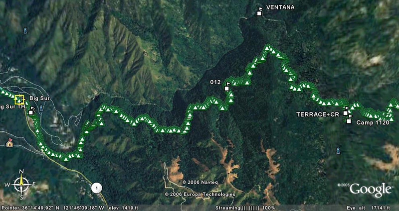 GPS Track of Hike
